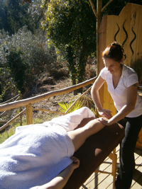 indulge yourself with a massage on the yurt deck